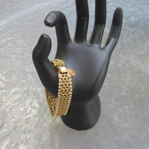 Kenneth Jay Lane Gold Bracelet w/ Crystal Outline